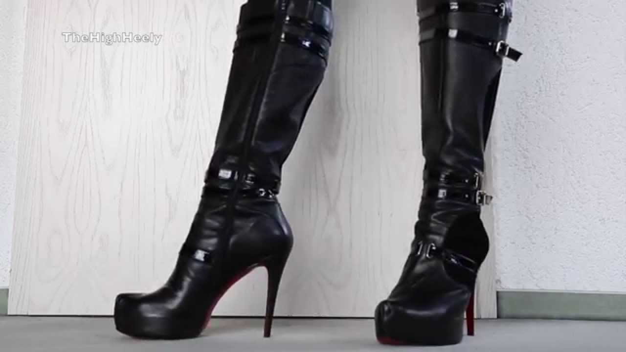 my high heel red sole boots meine highheel stiefel mit der roten sohle youtube. Black Bedroom Furniture Sets. Home Design Ideas