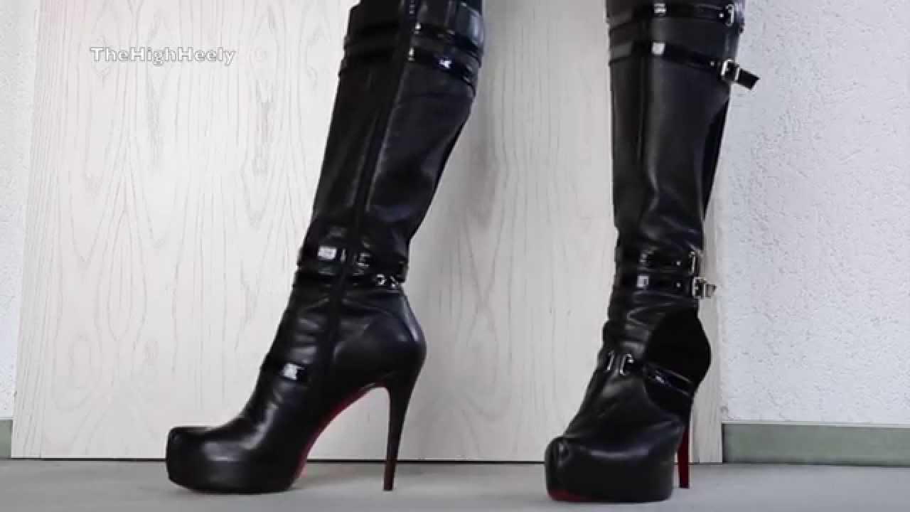 my high heel red sole boots meine highheel stiefel mit der roten sohle youtube. Black Bedroom Furniture Sets. Home Design Ideas