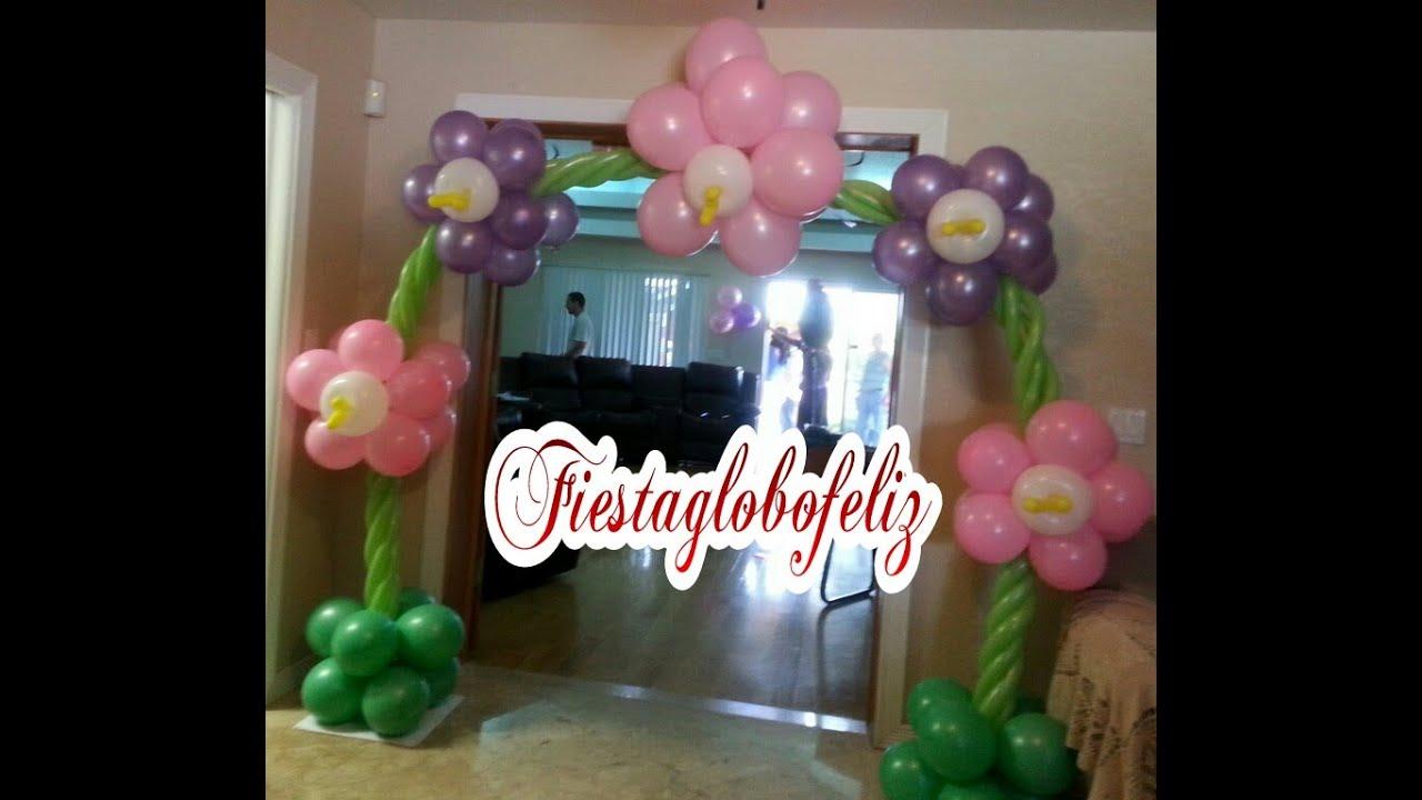 como hacer adornos con globos
