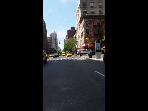 Bike ride in New York City streets, up 3rd Ave Manhattan view from behind!