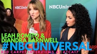 Leah Romito & Diandra Barnwell interviewed at NBCUniversal's Winter 2017 Press TCA Tour #NBCU #TCA17