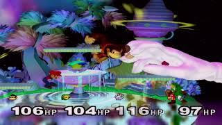 Super Smash Bros Melee - Gamecube - Donkey Kong Vs Link Vs Master Hand Vs Mario (Match #1)