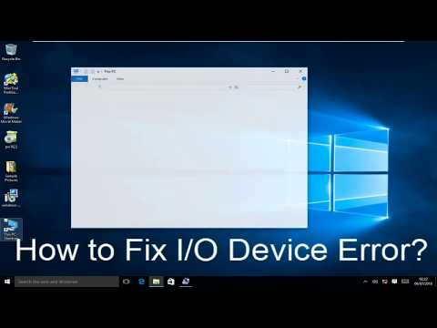 How to Fix  I/O Device Error Windows 10 (Step-by-Step Guide)