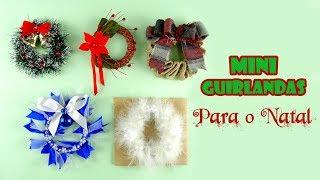 5 Mini Guirlandas para o Natal