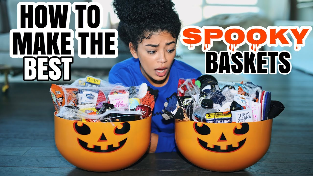 making the best spooky baskets jasmeannnn youtube