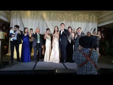 Andrew and Kim's wedding - dinner reception@ marina mandarin   6 Jan 2017