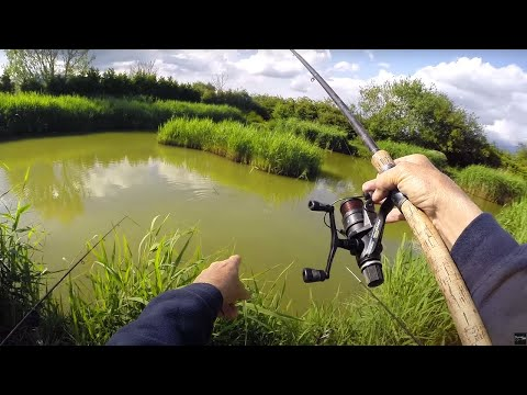 Float Fishing A TINY LAKE