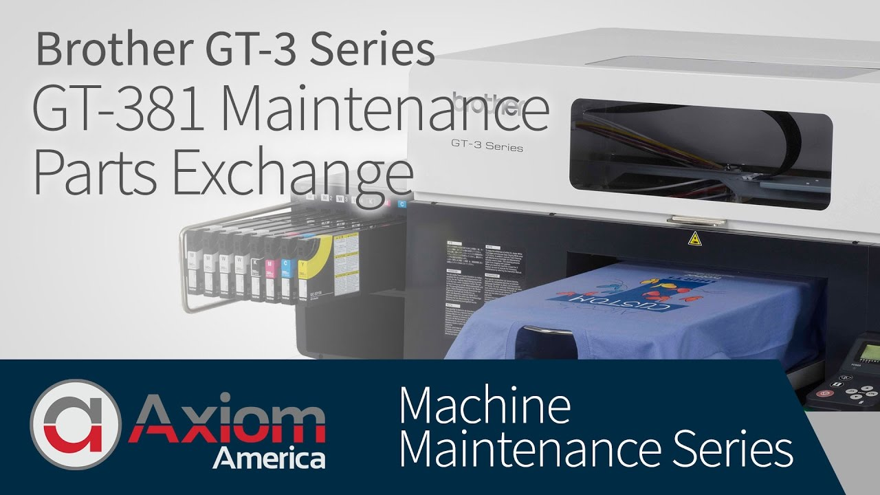 7fef3dc5a Brother GT-381 Maintenance Parts Exchange Procedure - YouTube
