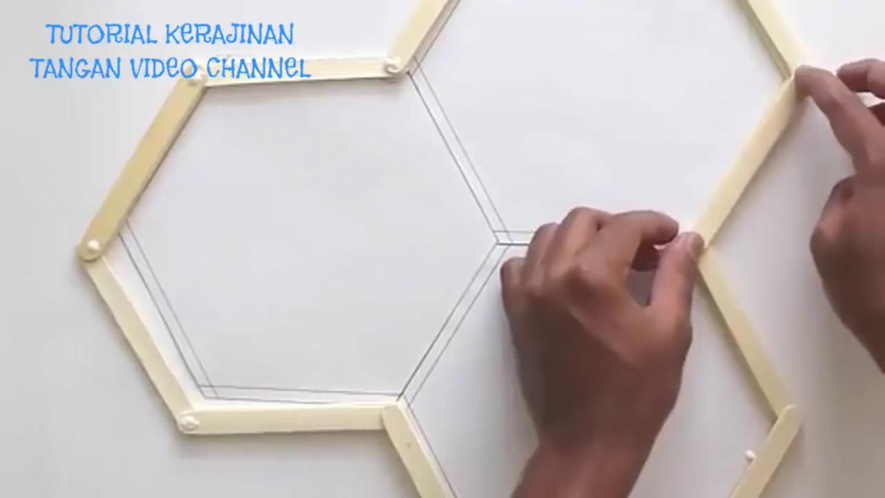 Cara Membuat Hiasan Dinding Dari Stik Es Krim Mudah Youtube