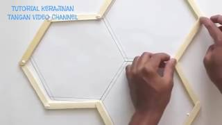 Cara Membuat Hiasan dinding dari stik es krim (mudah)