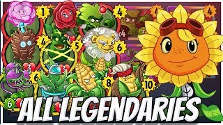 ALL Legendary Cards Challenge -Solar Flare Strategy Deck | Plants vs Zombies Heroes Gameplay (10/22)