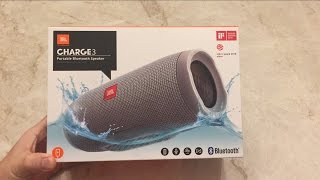 JBL Charge 3 Bluetooth Speaker Unboxing