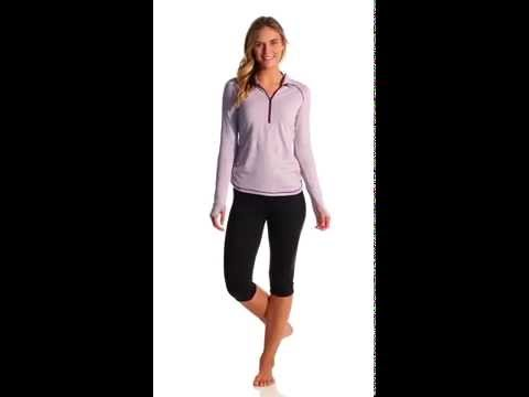 Lucy Women's Dashing Stripes Half Zip Top | SwimOutlet.com