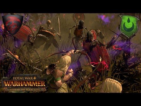 Raising Dead in Athel Loren - Vampire Counts vs. Wood Elves - Total War Warhammer Multiplayer Battle |