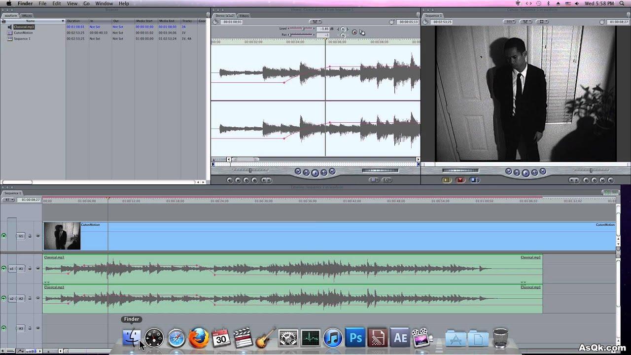 Final Cut Pro 7 Tutorial - Editing Audio (Waveform) - YouTube