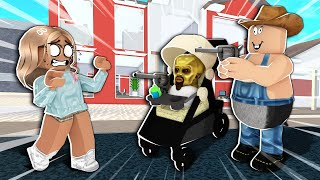 My Roblox baby and I abused admin commands...