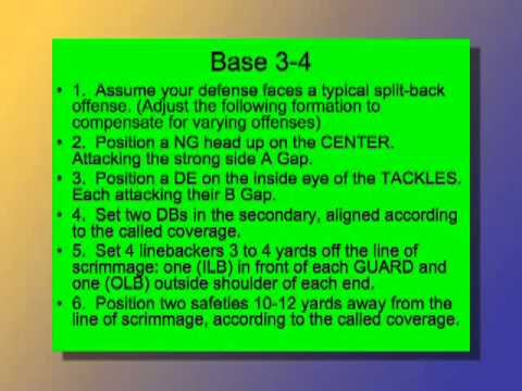 The 3 4 Defense For Youth Football Youtube