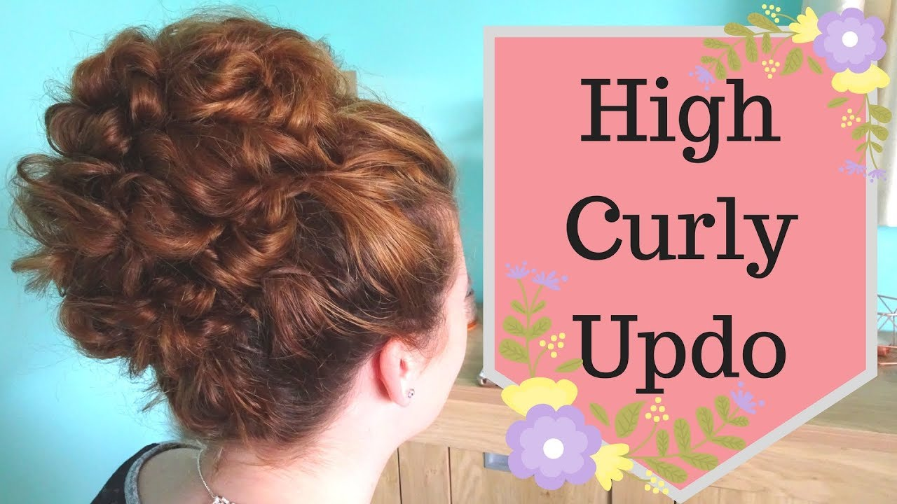 High Curly Updo Hairstyle Tutorial - How to - YouTube