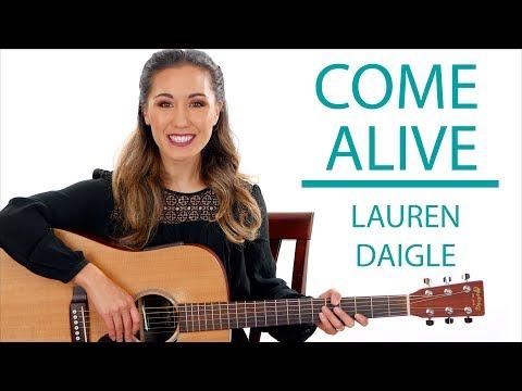 Come Alive (Dry Bones) Lauren Daigle Guitar Tutorial with Play Along