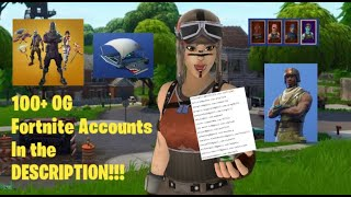 100 Sub special - Free 250+ fortnite OG accs (In Description)