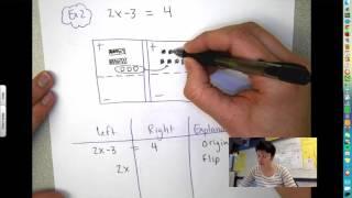 Solve for x equątion mat #1