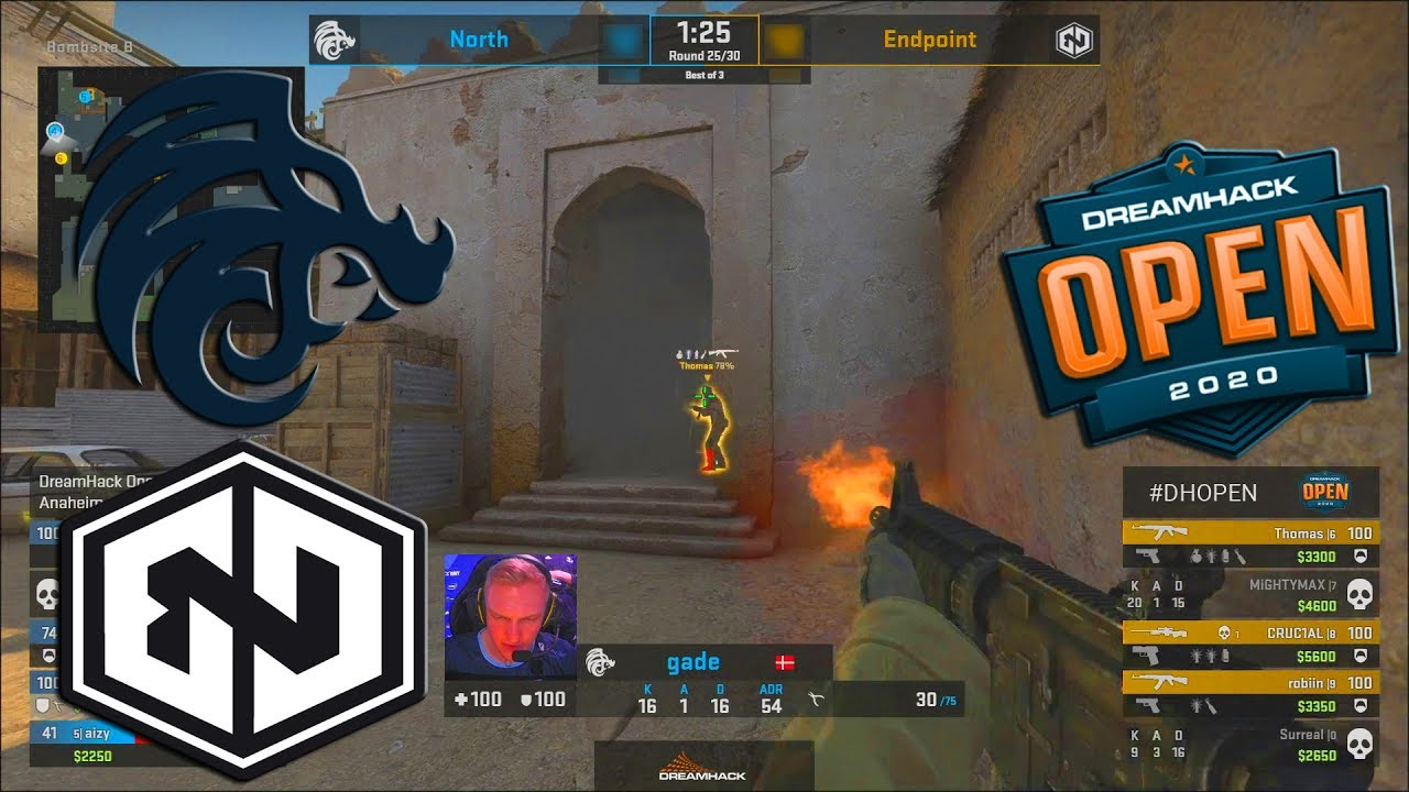 North vs Endpoint - DreamHack Open Anaheim 2020 - CS:GO thumbnail
