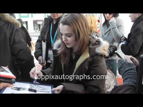 Kay Panabaker  Signing Autographs at the Sundance Film Festival