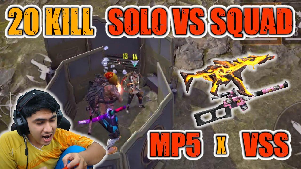 20 KILL SOLO VS SQUAD MP5 X VSS IPHONE XR
