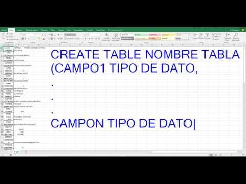 Sql| Práctica 1 (Create DATABASE, Create TABLE,  SELECT *, I