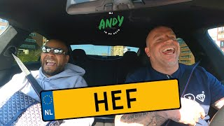 Hef - Bij Andy in de auto! (English subtitles)