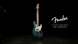 Fender Player Jazz Bass MN, Tidepool   Gear4music demo