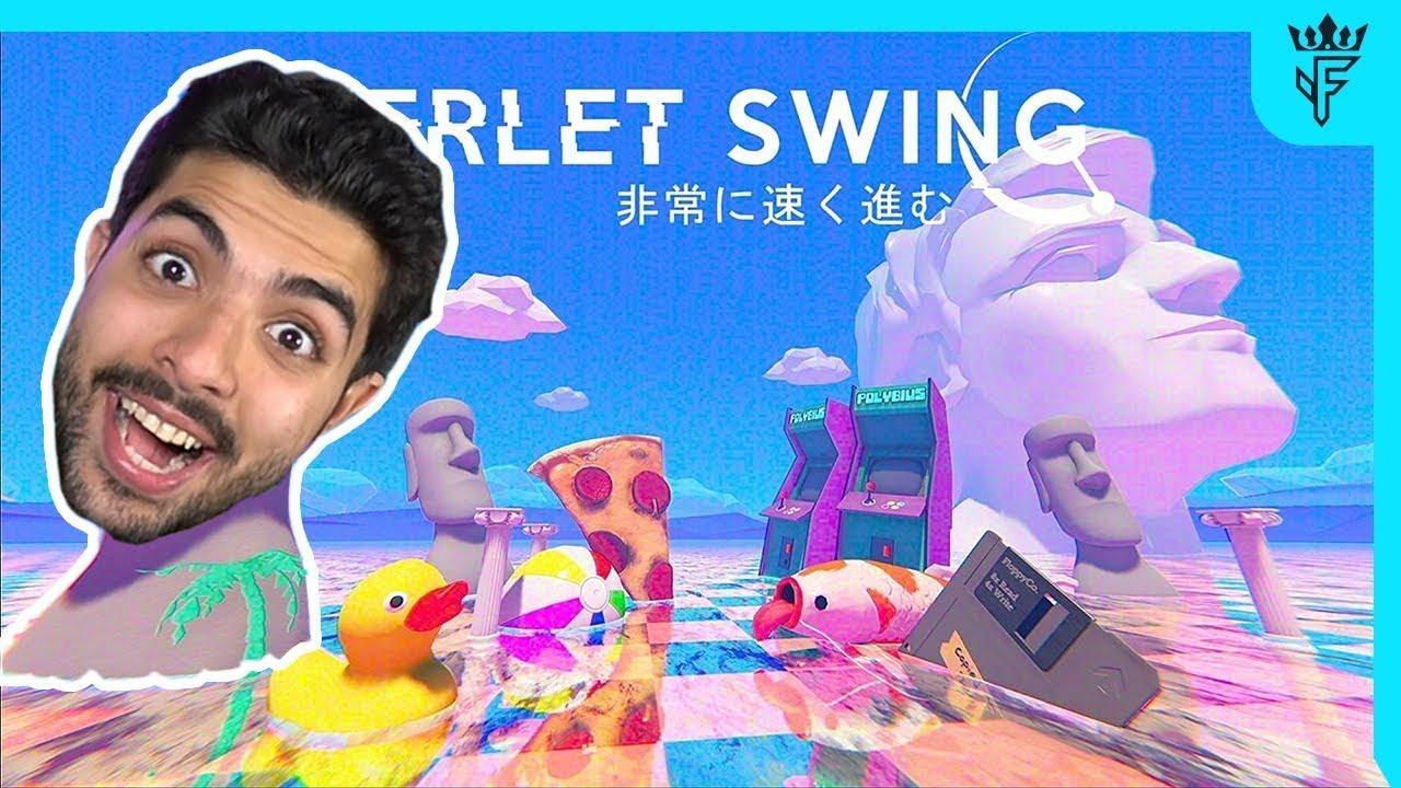 لعبة العالم الوردي الغريبة Verlet Swing Youtube
