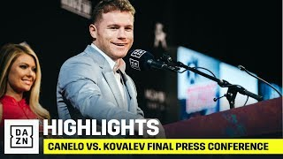 HIGHLIGHTS | Canelo vs. Sergey Kovalev: Final Press Conference