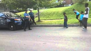 Officer caught on camera losing dance-off
