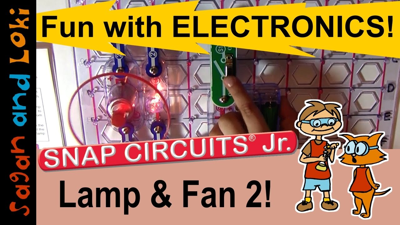 Lamp Fan In Parallel Snap Circuits Jr Projects Ep6 Elenco Electronics Mini Kit Basic Electricity Toys Homeschool Science Ideas
