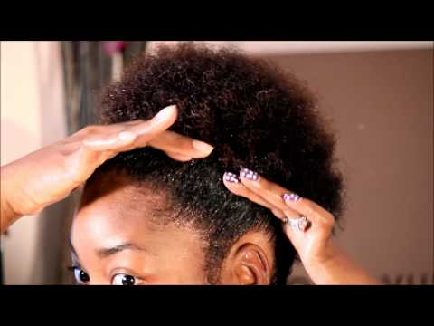 Natural Hair: How To Do A High Puff From Wet Hair