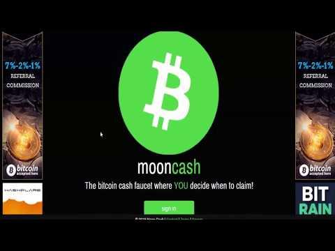 Новый КРАН Bitcoin Cash  | Moon Bitcoin Cash Faucet