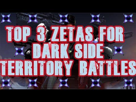 TOP 3 Zetas for Dark Side Territory Battles! Star Wars Galaxy of Heroes  SWGoH
