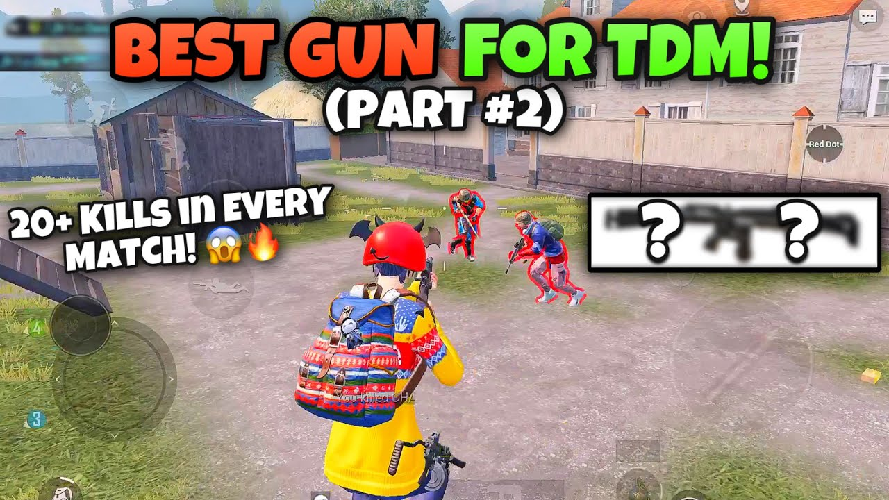 Best GUN In TDM To Get 20+ KILLS In Every Match! | PUBG MOBILE