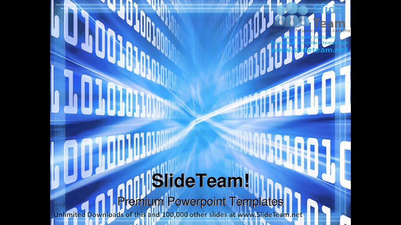binary blue globe powerpoint templates themes and backgrounds, Modern powerpoint