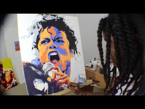 Michael Jackson Pop Art | M.Falconer | Time Lapse Painting