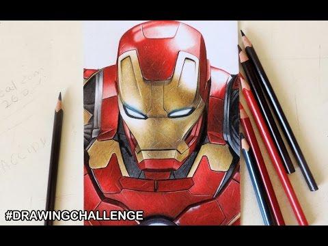 Guerra Civil Drawing Challenge Iron Man Youtube