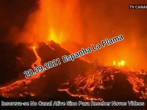 Vulcão Em La Palma ESPANHA ENTROU Erupção ................................................olhocerto