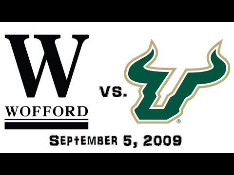 September 5, 2009 - Wofford Terriers vs. South Florida Bulls Full Football Game