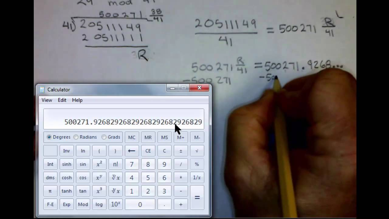 Remainder in math: definition & example video & lesson.