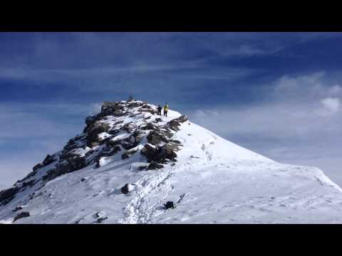 Arrival at the top of Monte Rosa buy helicopter - Crans Montana expedition 2014