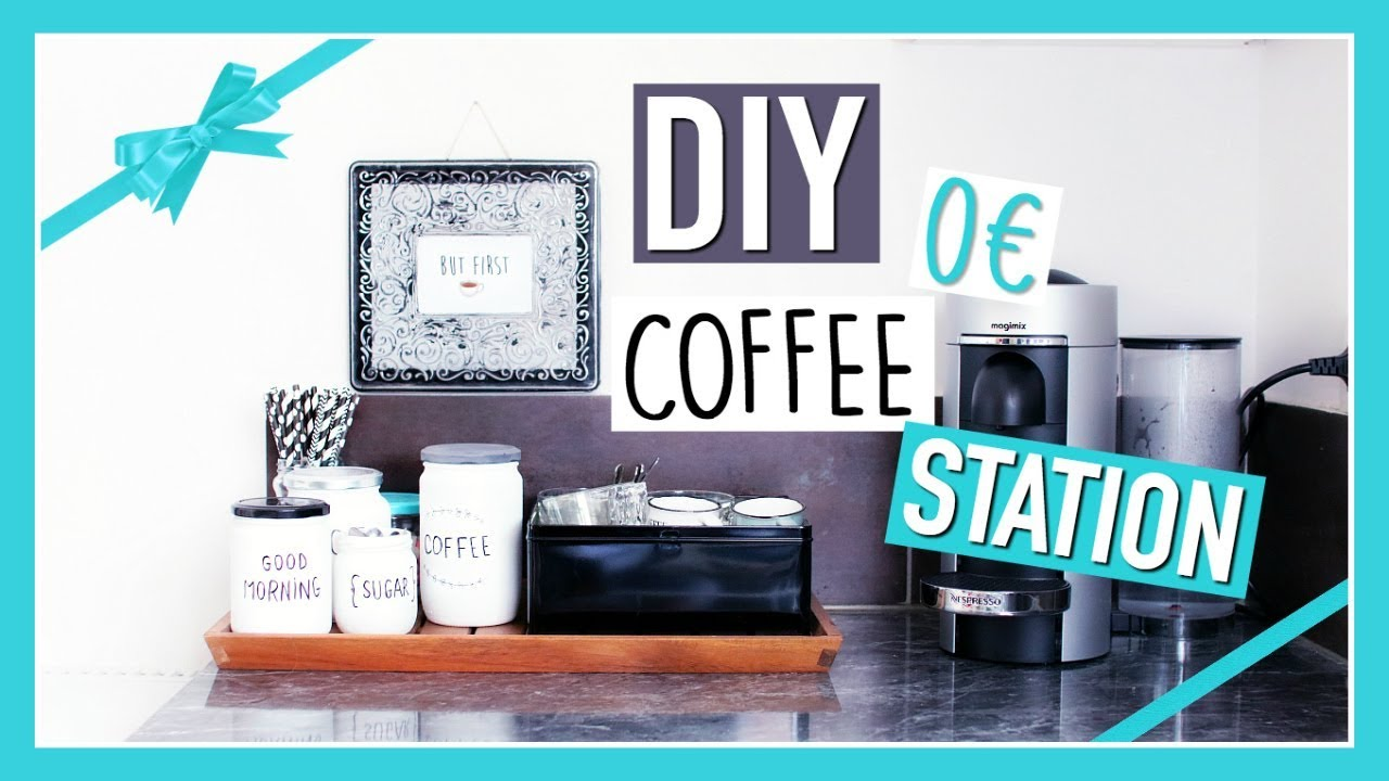 diy cadeau de no l facile deco recup 0 diy coffee station fran ais youtube. Black Bedroom Furniture Sets. Home Design Ideas