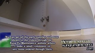 How To Reset Cabinet Door That Fell Off Concealed Hinge Maintenance Diy Fix Repair Video