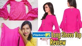 Flipkart Long Sleeve Top Review    Online Shopping Experience
