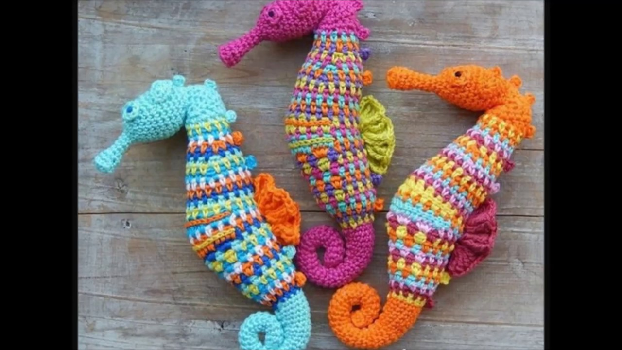 crochet seahorse - YouTube